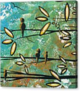Free As A Bird By Madart Acrylic Print