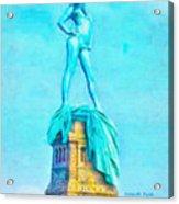 Free Liberty - Pa Acrylic Print