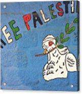 Free Palestine Peace Acrylic Print