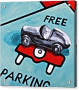 Free Parking Acrylic Print by Herschel Fall