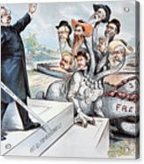 Free Silver Cartoon, 1895 Acrylic Print