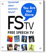 Free Speech Tv Acrylic Print