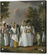Free Women Of Color With Their Children And Servants In A Landscape Acrylic Print
