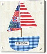Freedom Boat- Art By Linda Woods Acrylic Print