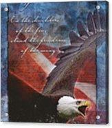 Freedom Greeting Card Acrylic Print by William Martin