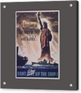 Freedom Of The Seas Acrylic Print