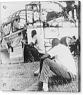 Freedom Riders Bus Was Destroyed Acrylic Print by Everett