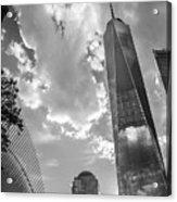 Freedom Tower Bw Acrylic Print