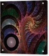Freefall - Fractal Art Acrylic Print