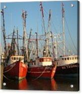 Freeport Shrimper Fleet Acrylic Print