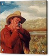 Freeze    Rifleman With Muzzle Loader Western Painting Acrylic Print