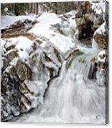 Freeze On The Basin Trail Nh Acrylic Print