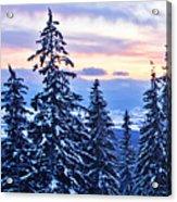 Freezing Sunset 14 Acrylic Print