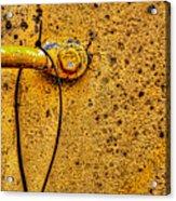 Freight Car Ladder Detail Acrylic Print