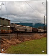 Freight Rain Acrylic Print