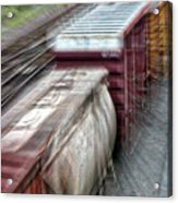 Freight Train Abstract Acrylic Print