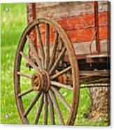 Freight Wagon Wheel Acrylic Print