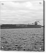 Freighter In Midland Bay Acrylic Print