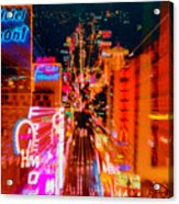 Fremont Street For One From The Heart Acrylic Print