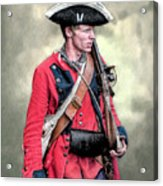 French And Indian War British Royal American Soldier Acrylic Print
