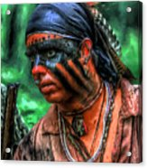 French And Indian War Indian Warrior Acrylic Print by Randy Steele