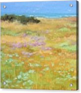 French Coastal Landscape Acrylic Print