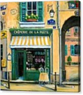 French Creperie Acrylic Print by Marilyn Dunlap