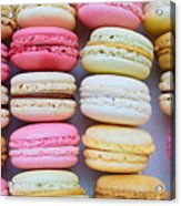 French Delicious Dessert Macaroons Acrylic Print