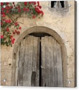 French Doors And Ghost In The Window Acrylic Print by Marilyn Dunlap