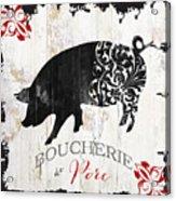 French Farm Sign Piglet Acrylic Print