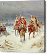 French Forces Crossing The River Berezina In November 1812 Acrylic Print