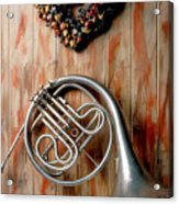French Horn Hanging On Wall Acrylic Print