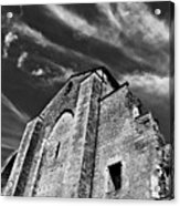 French Middle Age Kisses The Dark Sky Acrylic Print