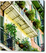 French Quarter Balconies - Nola Acrylic Print