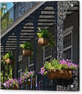 French Quarter Sunlit Balcony - New Orleans Acrylic Print