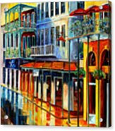 French Quarter Sunrise Acrylic Print