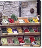 French Vegetable Stand Acrylic Print