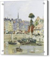 French View Of Honfleur Acrylic Print