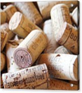 French Wine Corks Acrylic Print