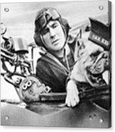 French World War Two Postcard Celebrating The British Bulldog As A Mascot For The Royal Air Force Acrylic Print