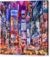 Frenzy New York City Acrylic Print