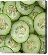 Fresh Cucumbers Acrylic Print