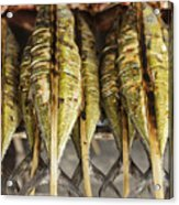 Fresh Grilled Asian Fish In Kep Market Cambodia Acrylic Print