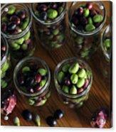 Fresh Harvested Olives And Tunas Acrylic Print