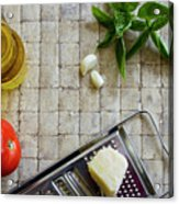 Fresh Italian Cooking Ingredients Acrylic Print
