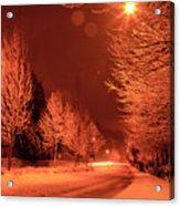 Fresh Morning Snow Acrylic Print