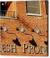 Fresh Produce Signage Acrylic Print
