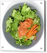 Fresh Seafood Salad With Smoked Salmon Acrylic Print