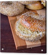 Fresh Sesame Bagel Acrylic Print