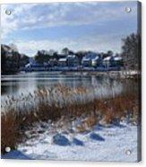 Fresh Snow Along The Creek Acrylic Print